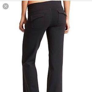 Athleta Fusion Wide Leg Yoga Pants Rear Pckts M